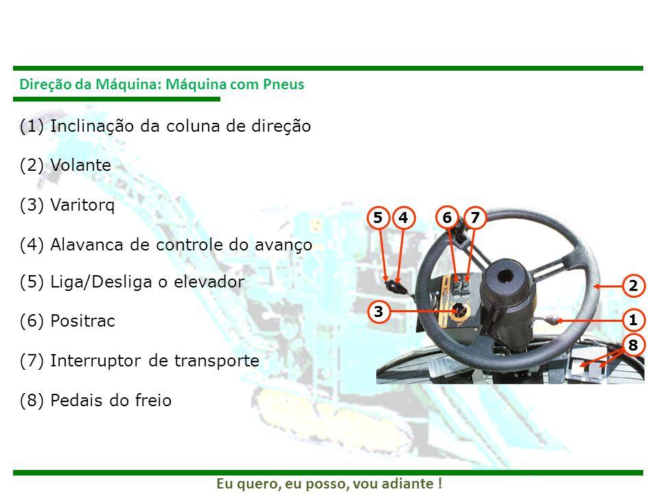 Direção da Máquina: Máquina com Pneus