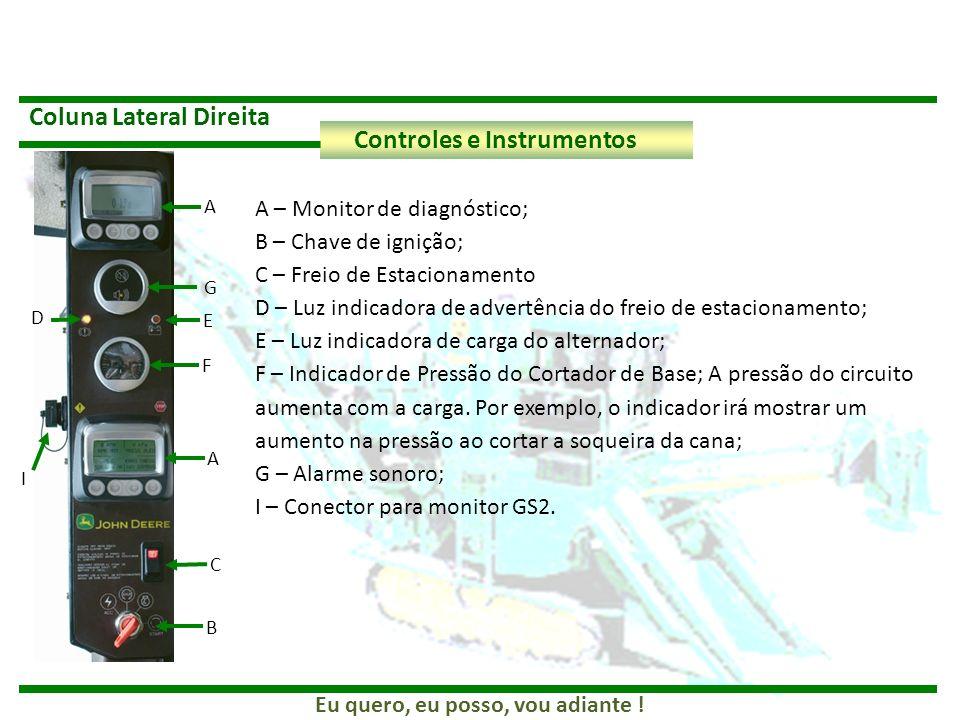 Coluna Lateral Direita Controles e Instrumentos