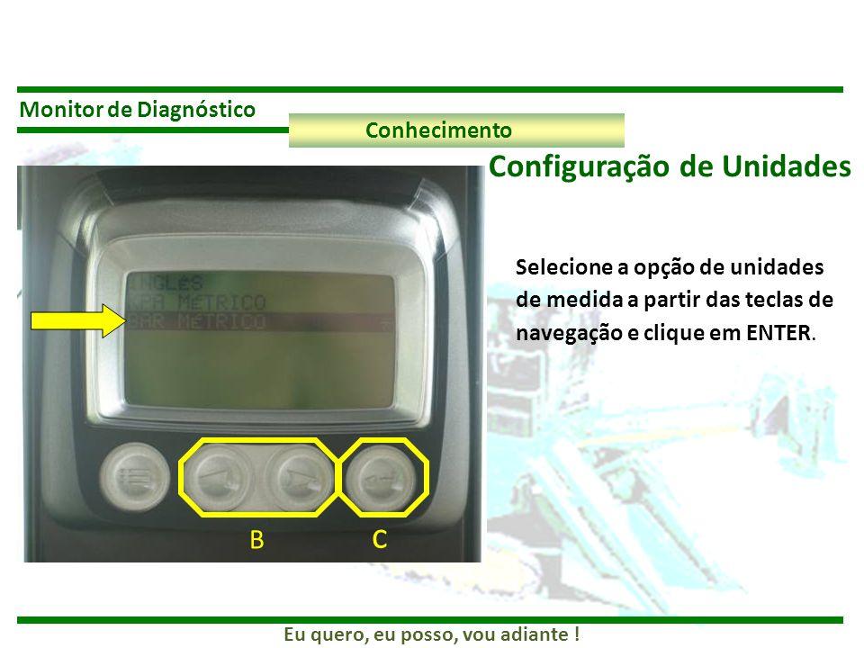 c Configuração de Unidades B Monitor de Diagnóstico Conhecimento