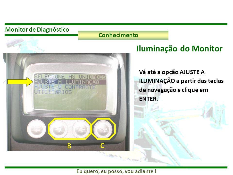c Iluminação do Monitor B Monitor de Diagnóstico Conhecimento