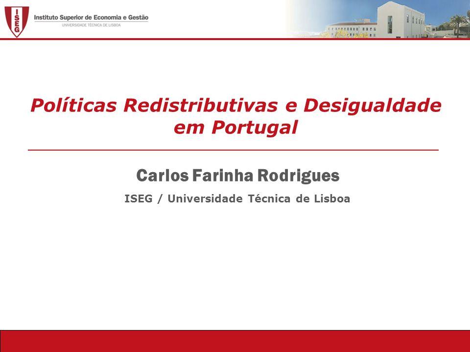 Políticas Redistributivas e Desigualdade em Portugal