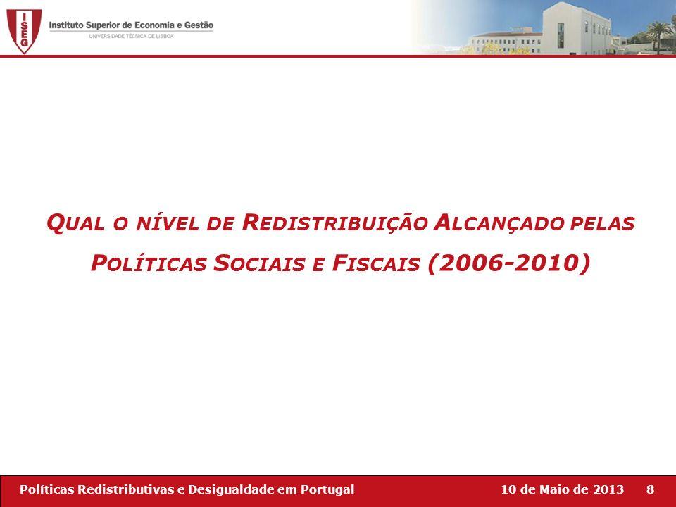 Qual o nível de Redistribuição Alcançado pelas Políticas Sociais e Fiscais (2006-2010)