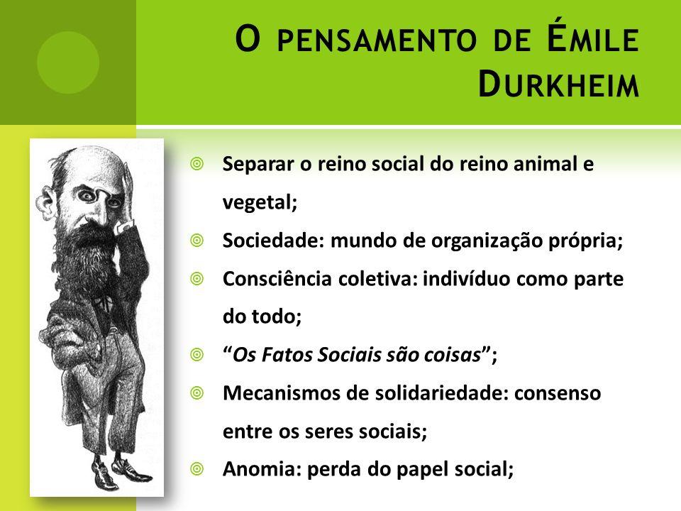 O pensamento de Émile Durkheim