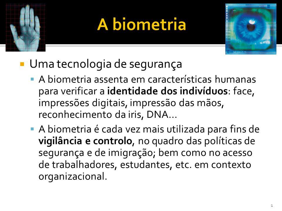 A biometria Uma tecnologia de segurança