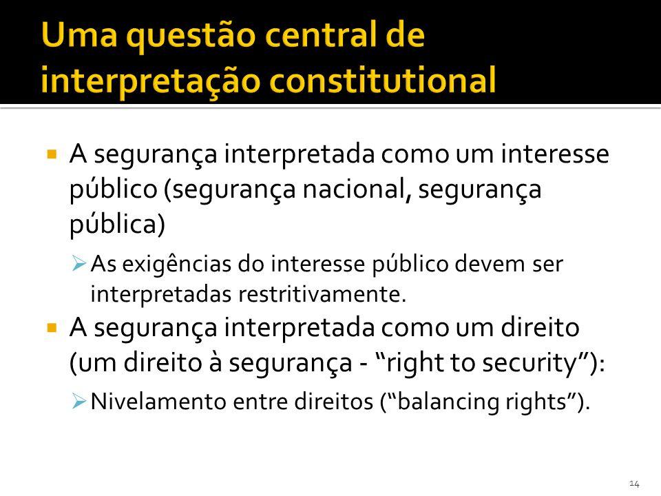 Uma questão central de interpretação constitutional