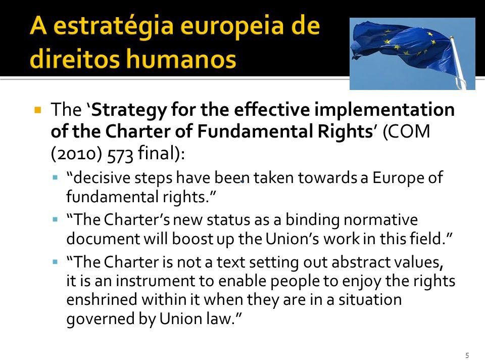 A estratégia europeia de direitos humanos