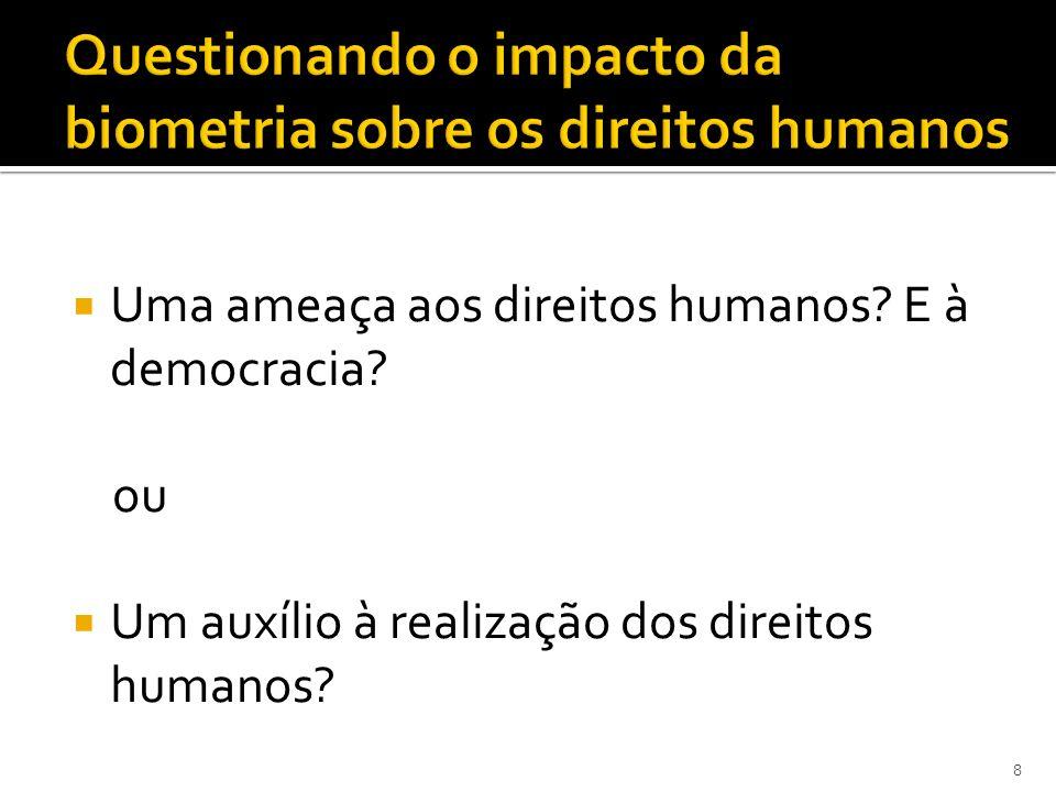 Questionando o impacto da biometria sobre os direitos humanos