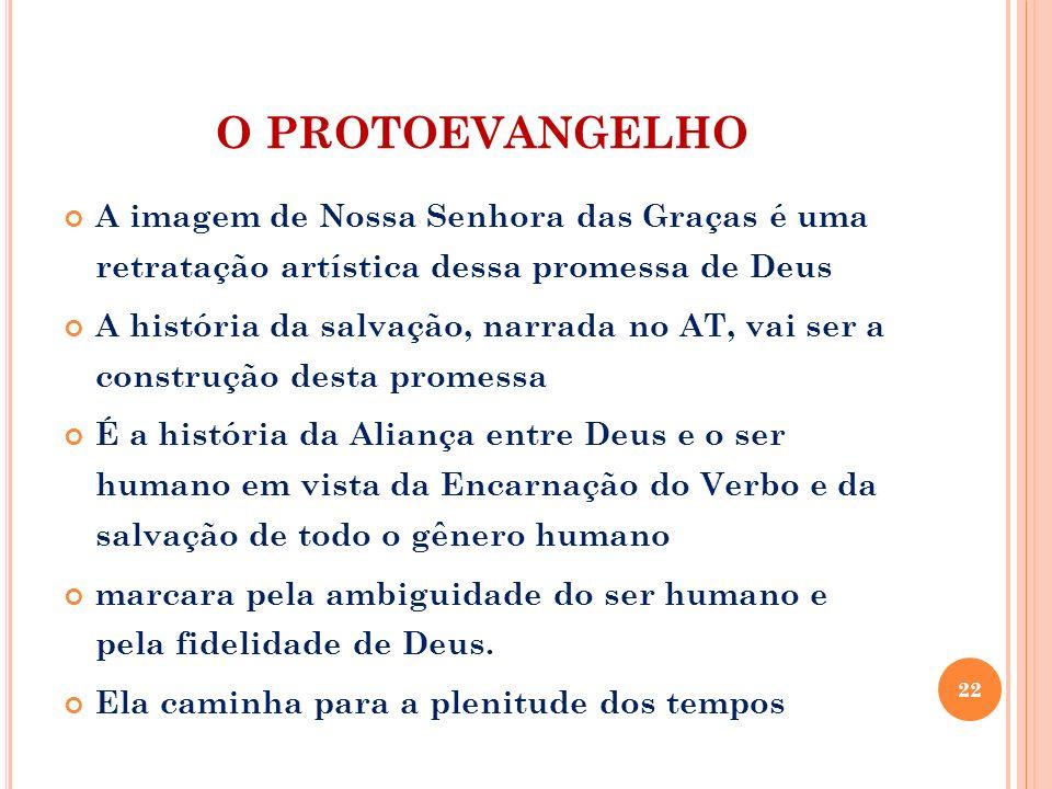 O PROTOEVANGELHO A imagem de Nossa Senhora das Graças é uma retratação artística dessa promessa de Deus.