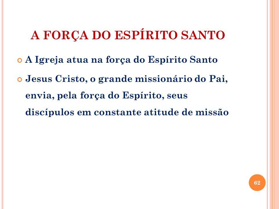 A FORÇA DO ESPÍRITO SANTO