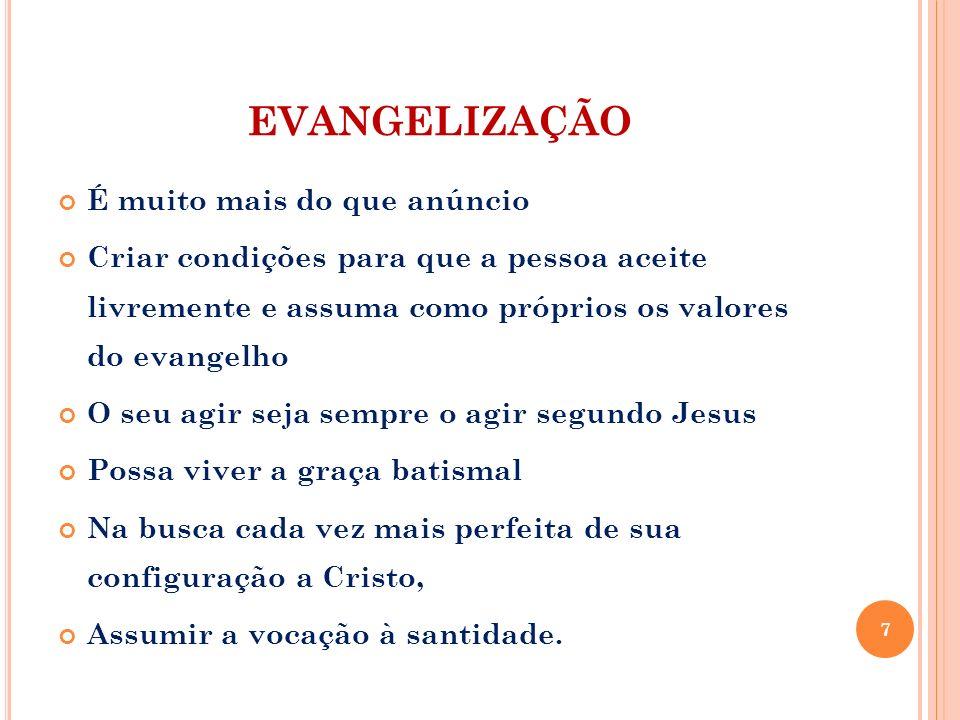 EVANGELIZAÇÃO É muito mais do que anúncio