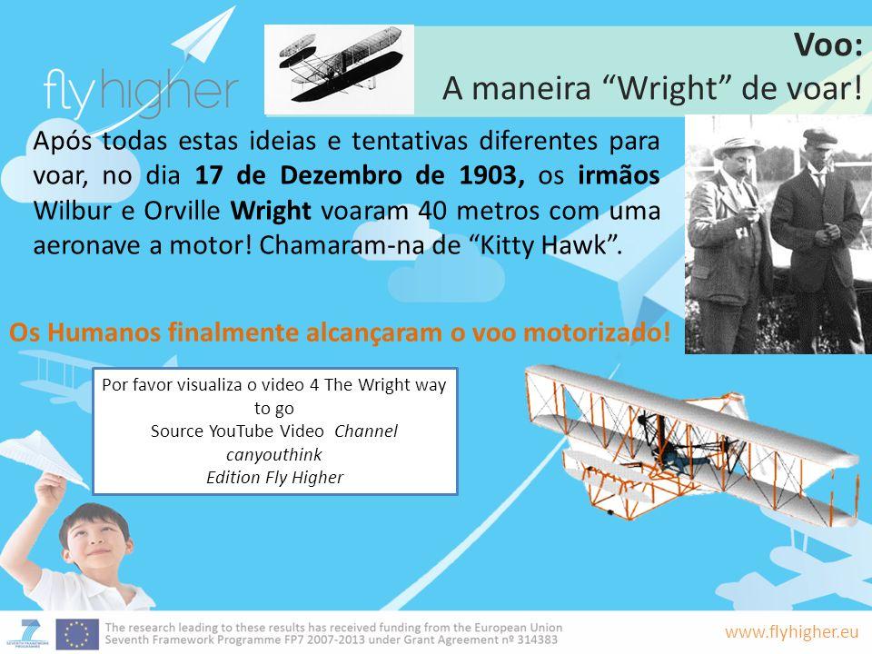 A maneira Wright de voar!