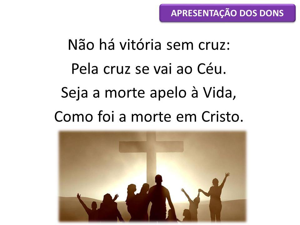 Não há vitória sem cruz: Pela cruz se vai ao Céu.