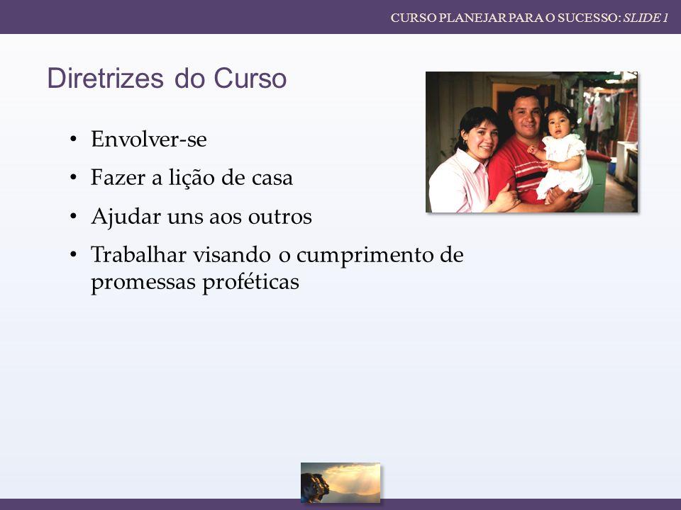 Diretrizes do Curso Envolver-se Fazer a lição de casa