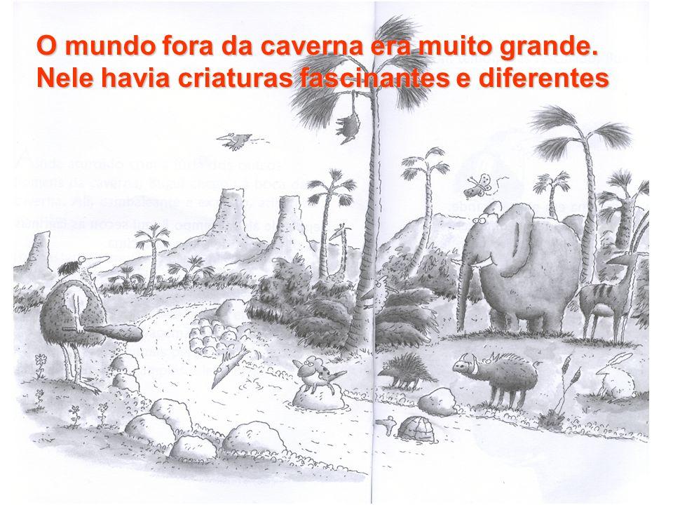O mundo fora da caverna era muito grande
