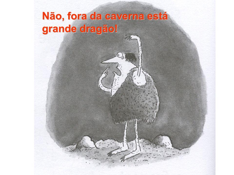 Não, fora da caverna está grande dragão!