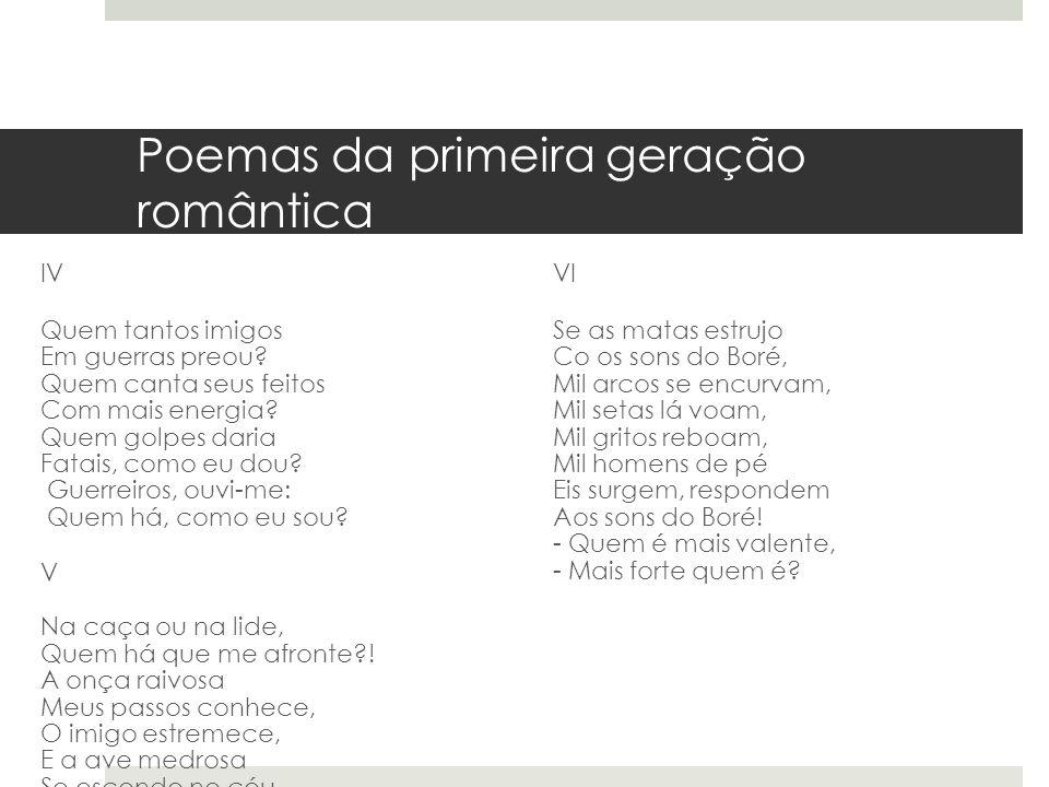 Poemas da primeira geração romântica