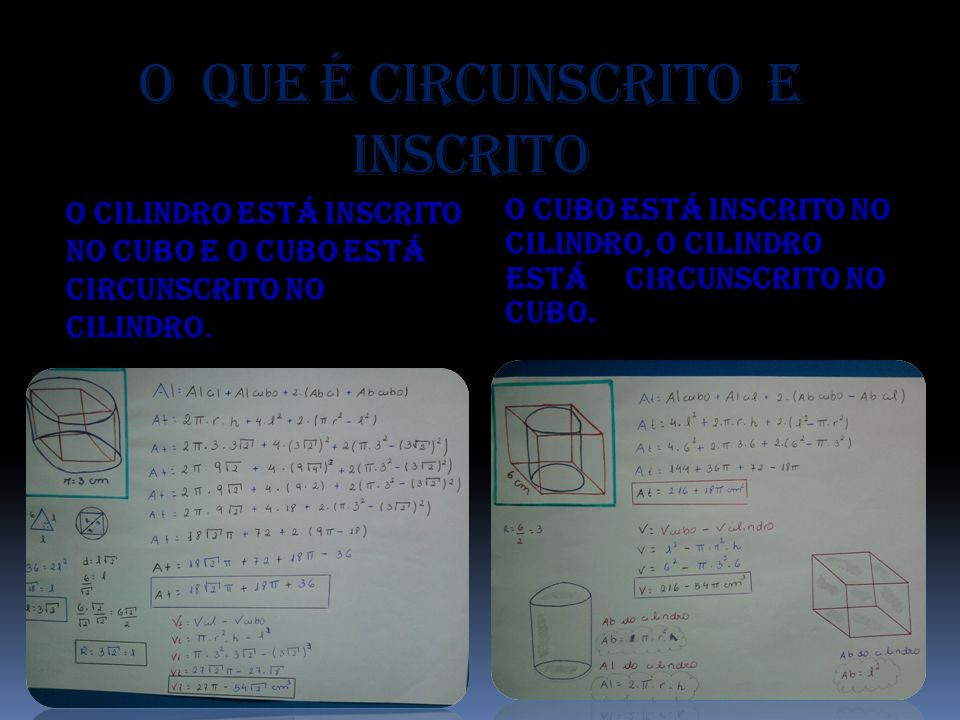 O que é circunscrito e inscrito