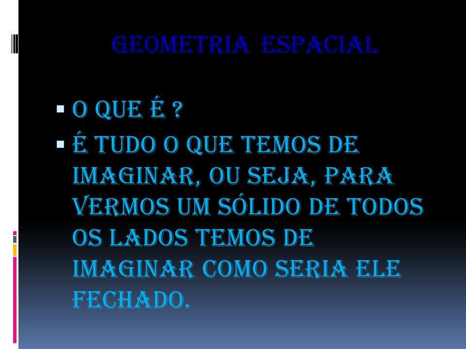 Geometria espacial O que é