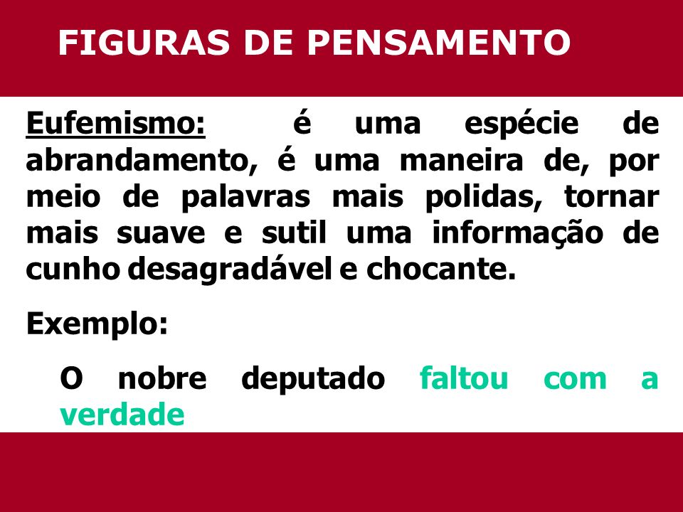 FIGURAS DE PENSAMENTO