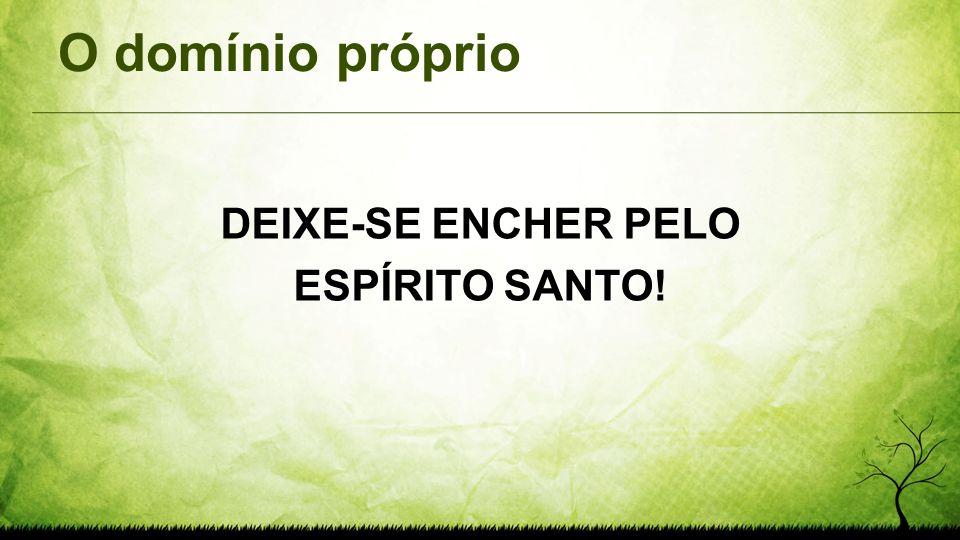 DEIXE-SE ENCHER PELO ESPÍRITO SANTO!
