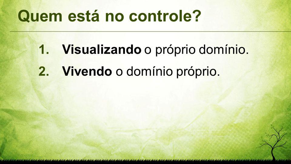 Quem está no controle Visualizando o próprio domínio.