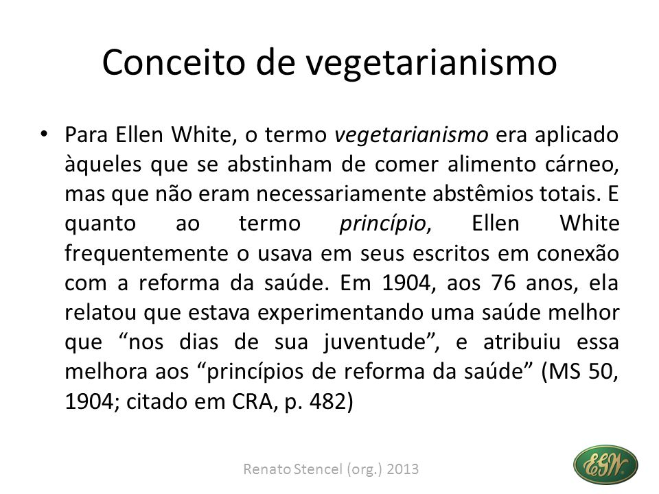 Conceito de vegetarianismo