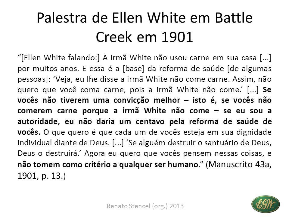 Palestra de Ellen White em Battle Creek em 1901