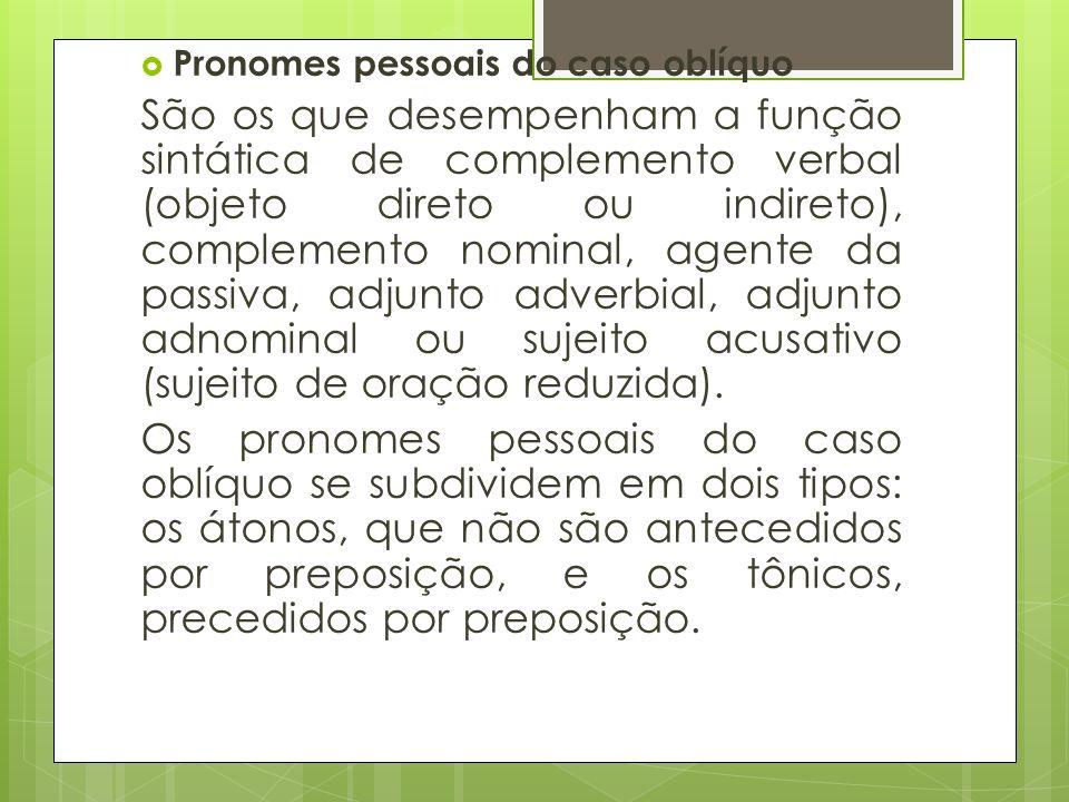 Pronomes pessoais do caso oblíquo