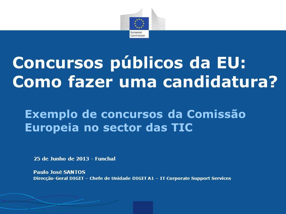 Concursos públicos da EU: Como fazer uma candidatura