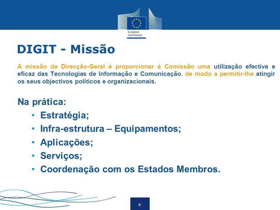 DIGIT - Missão Na prática: Estratégia; Infra-estrutura – Equipamentos;