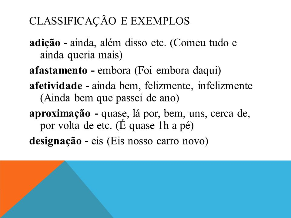 CLASSIFICAÇÃO E EXEMPLOS