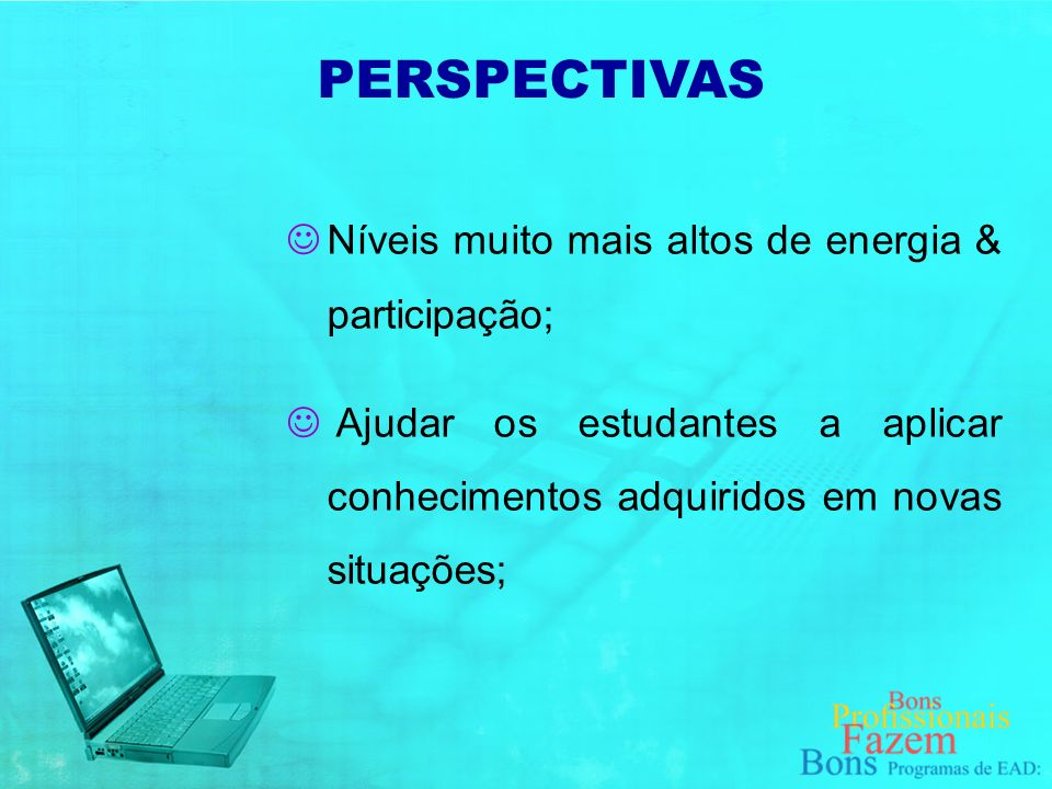 PBL implica: PERSPECTIVAS