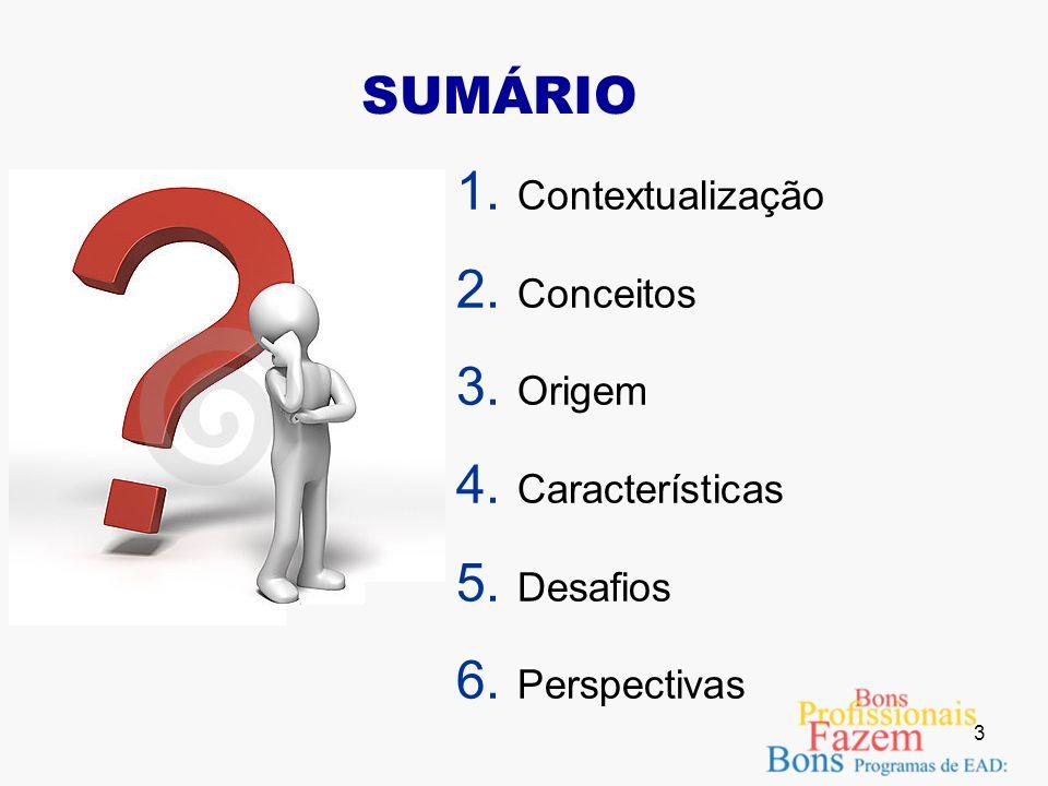 SUMÁRIO Contextualização Conceitos Origem Características Desafios