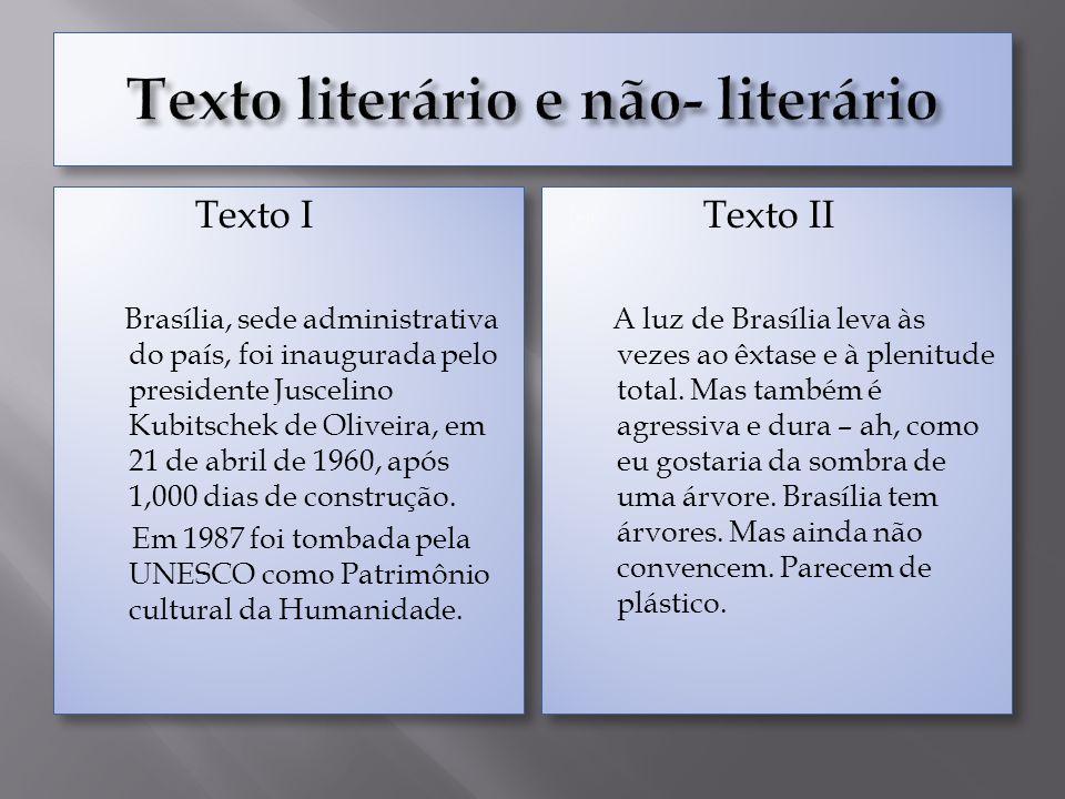 Texto literário e não- literário