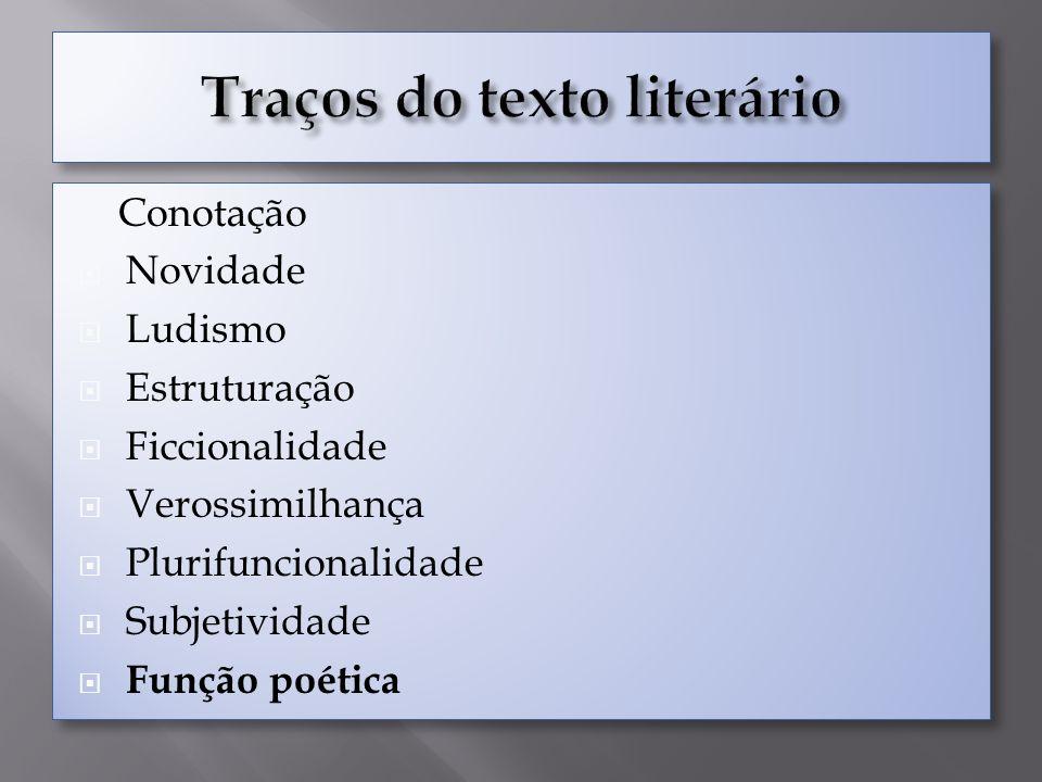 Traços do texto literário
