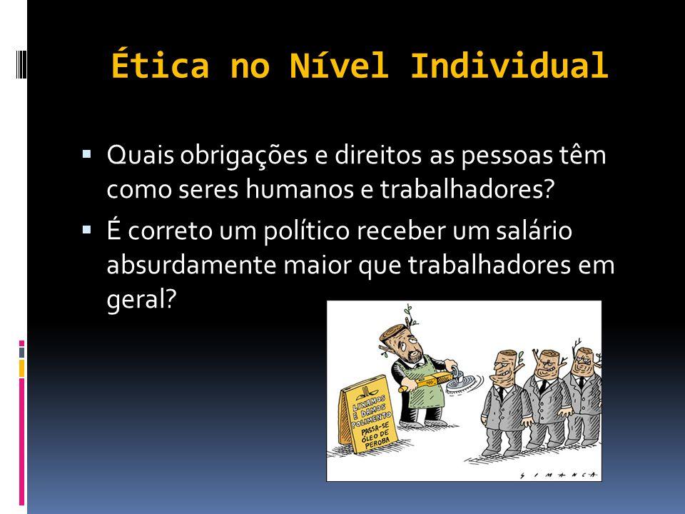 Ética no Nível Individual