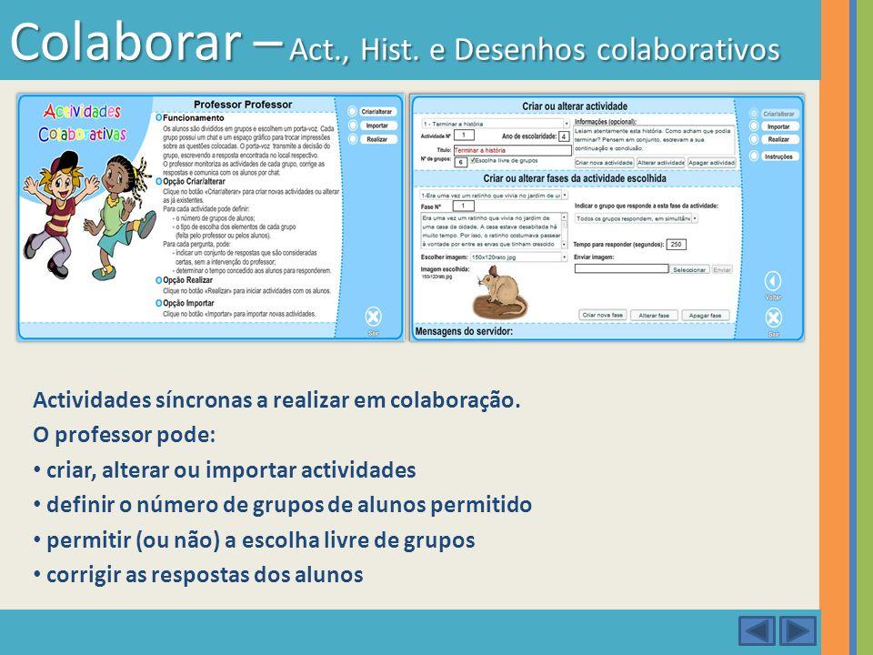 Colaborar – Act., Hist. e Desenhos colaborativos