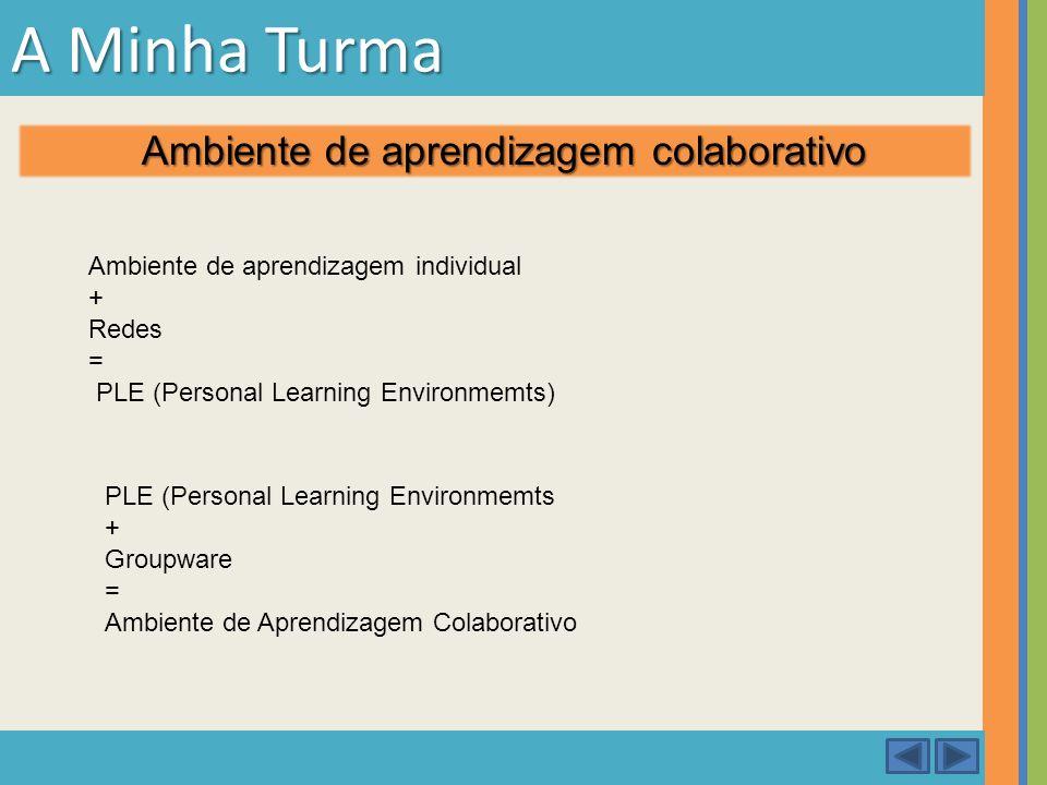 A Minha Turma Ambiente de aprendizagem colaborativo