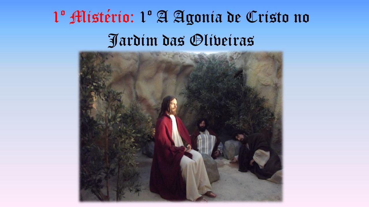 1º Mistério: 1º A Agonia de Cristo no Jardim das Oliveiras