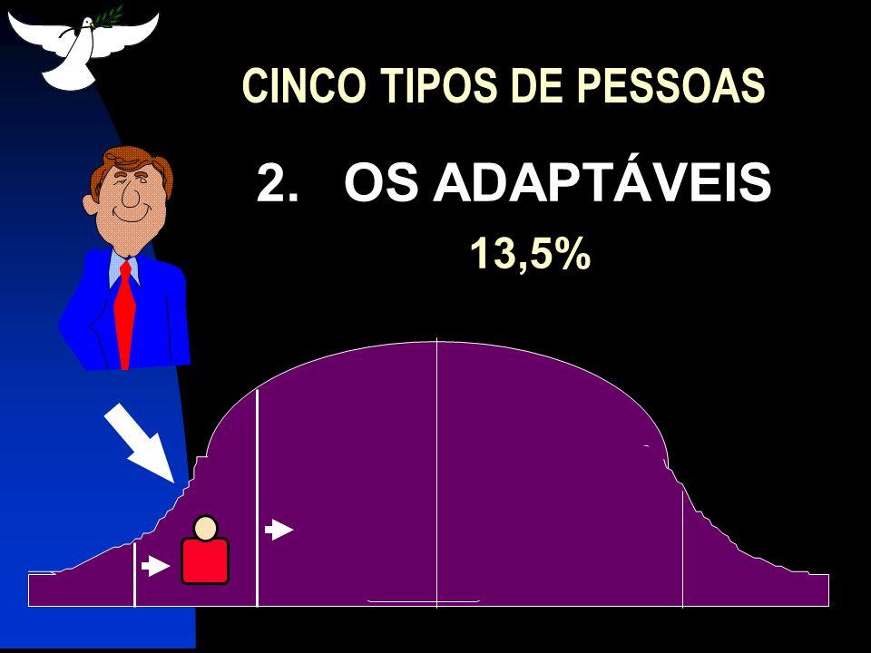 CINCO TIPOS DE PESSOAS 2. OS ADAPTÁVEIS 13,5%