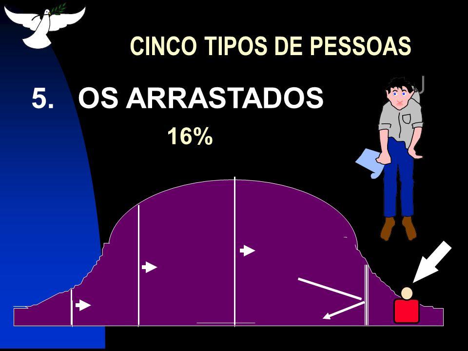 CINCO TIPOS DE PESSOAS 5. OS ARRASTADOS 16%
