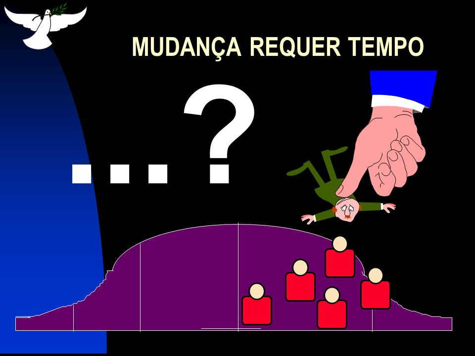 MUDANÇA REQUER TEMPO ...