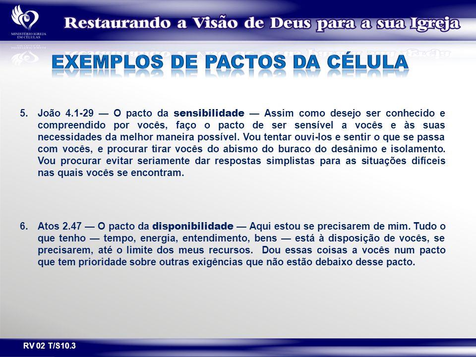 EXEMPLOS DE PACTOS DA célula