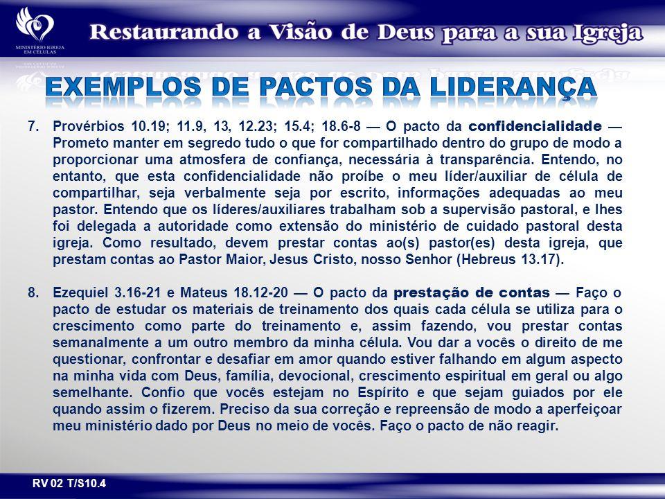 EXEMPLOS DE PACTOS DA LIDERANÇA