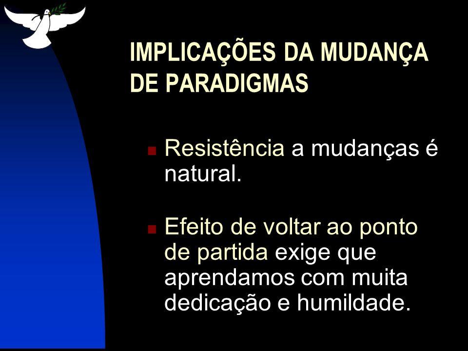 IMPLICAÇÕES DA MUDANÇA DE PARADIGMAS
