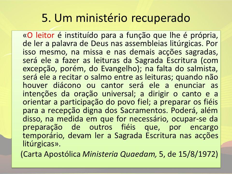 5. Um ministério recuperado