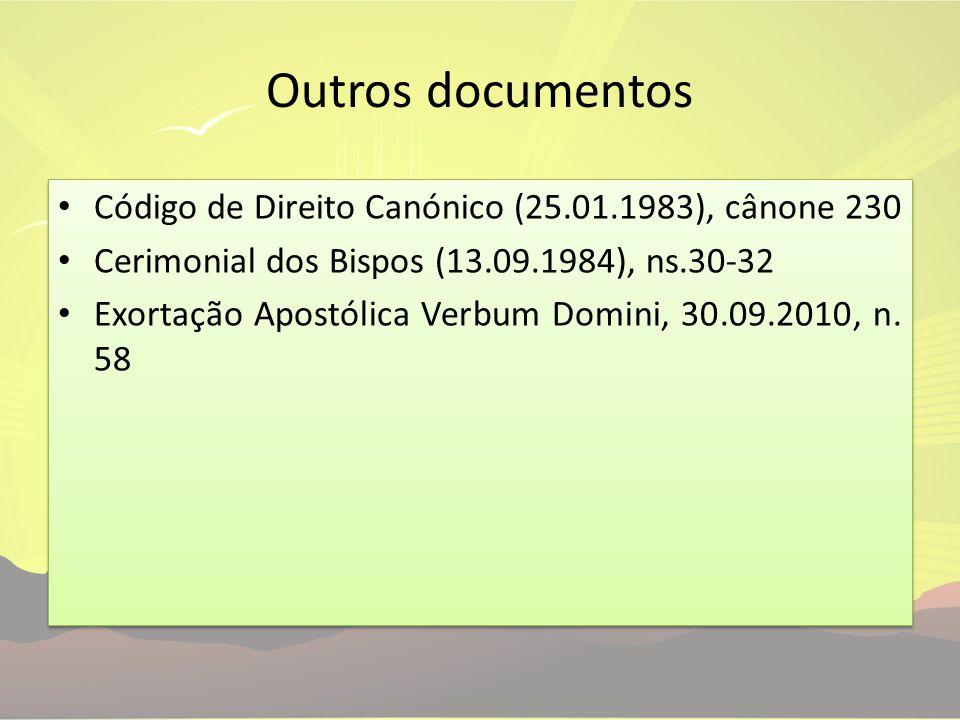 Outros documentos Código de Direito Canónico (25.01.1983), cânone 230