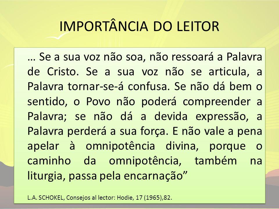 IMPORTÂNCIA DO LEITOR