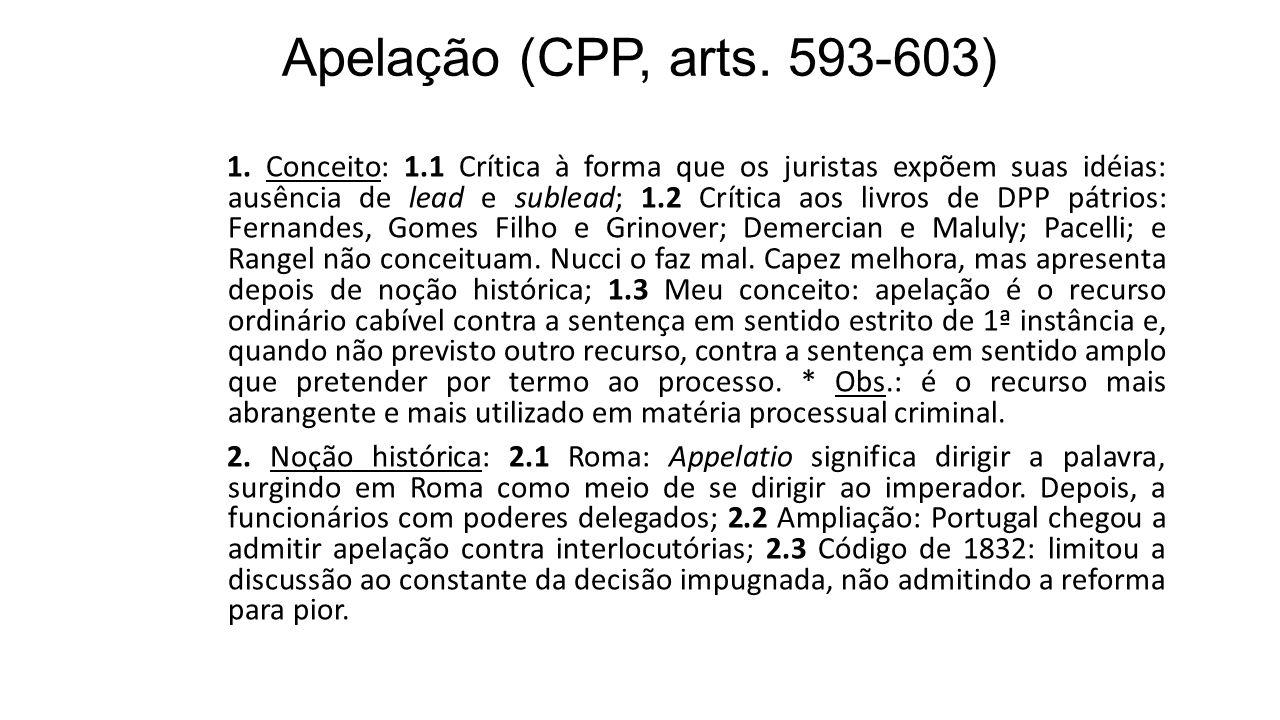 Apelação (CPP, arts. 593-603)