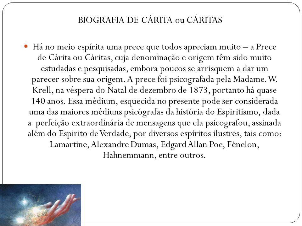 BIOGRAFIA DE CÁRITA ou CÁRITAS